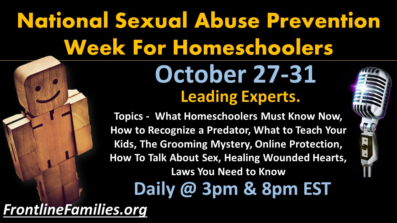 Sexual Abuse Prevention week for homeschoolers website image